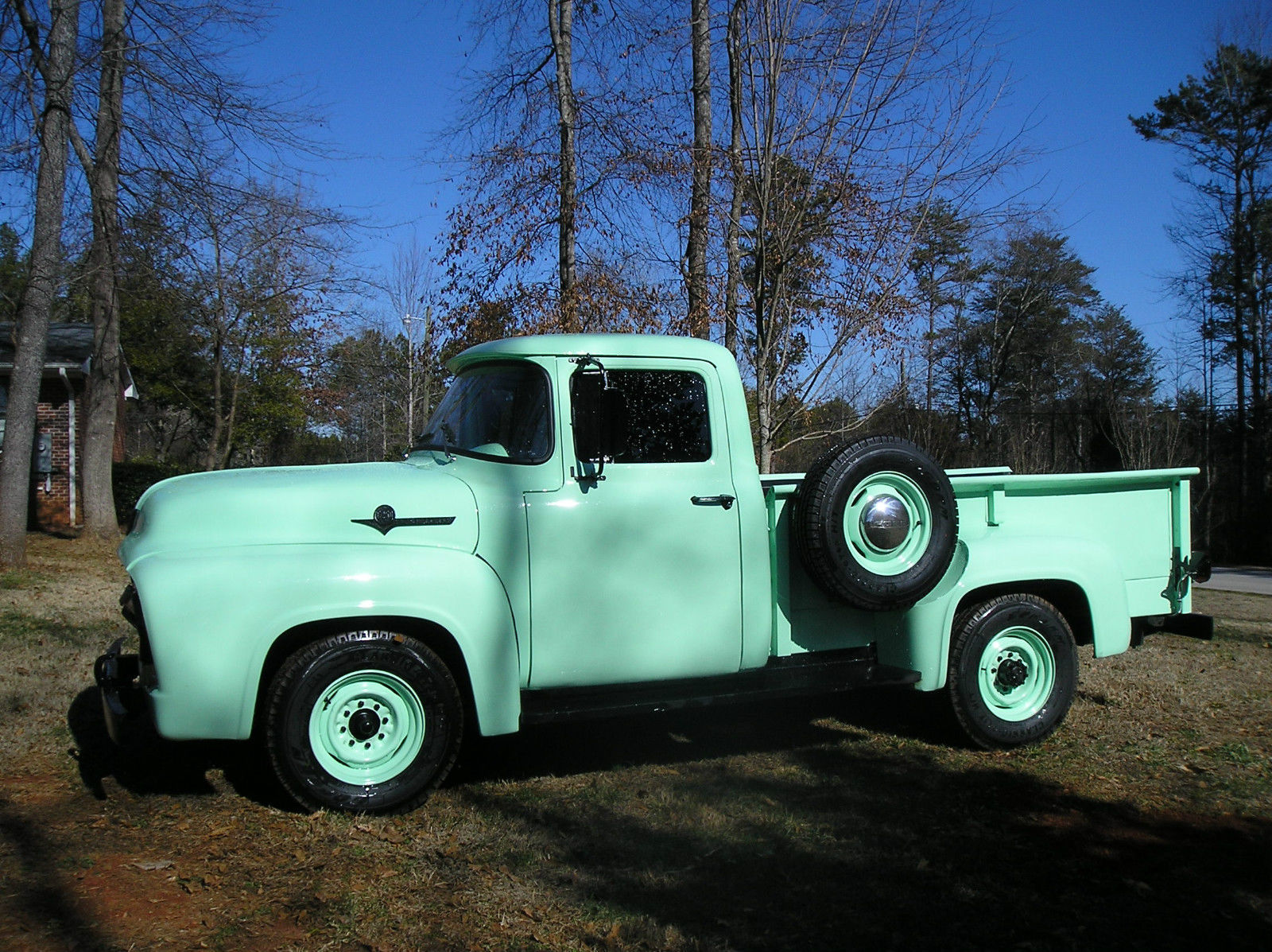 Rebuilt Vintage Ford Truck F250 Meadowmist Green 272 V8 1964 F 250 Highboy 4x4