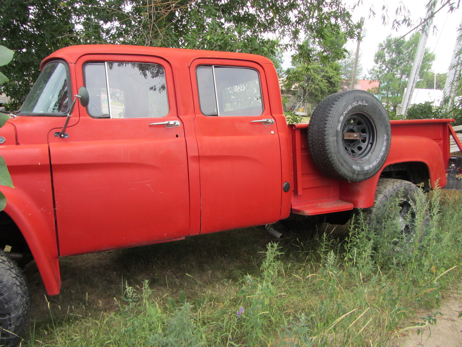 Red 1960 Dodge Power Giant Power Wagon Four Door 4 speed ...