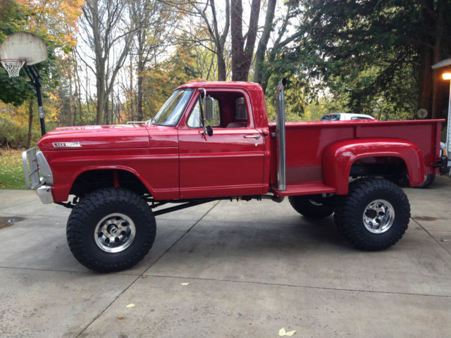 red 1967 f250 highboy long bed step side classic ford f 250 19671970 Ford F250 Longbed Stepside #3