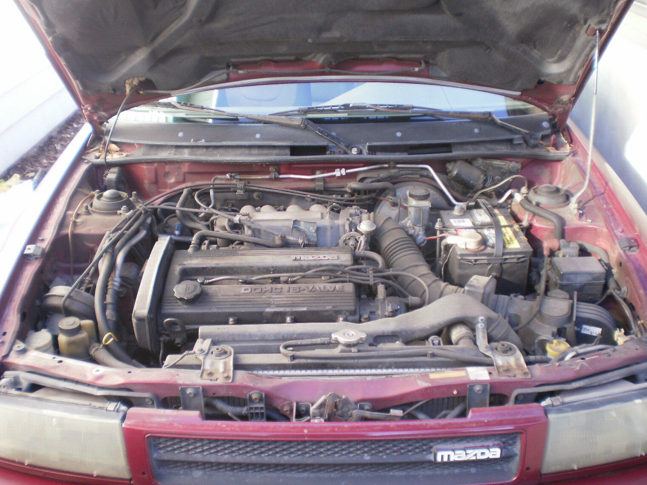 red 1992 mazda protege lx dohc 323 original engine new tires brakes alternator classic mazda protege 1992 for sale smclassiccars com