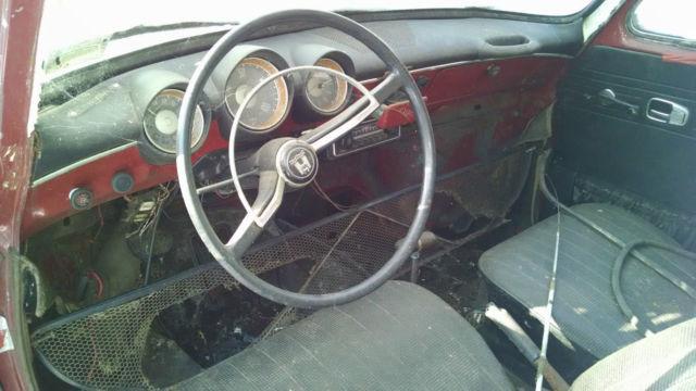 Red, 2 Doors, Black interior, Full restoration work needed. 1970 Volkswagen Squareback