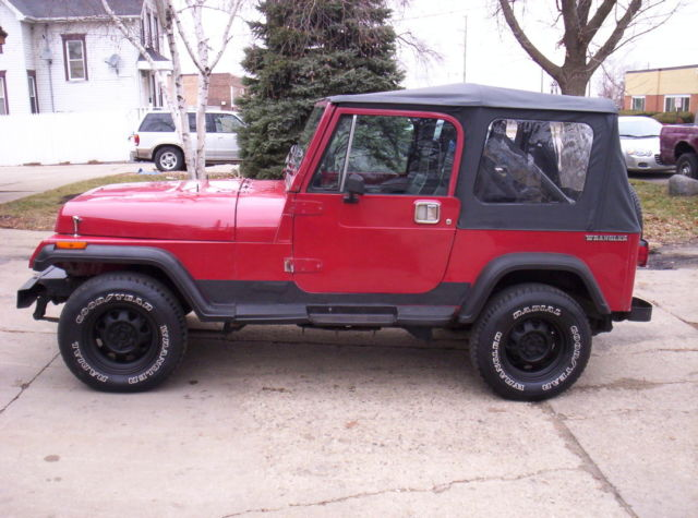 red jeep wrangler yj 4x4 new soft top steel full doors. Cars Review. Best American Auto & Cars Review