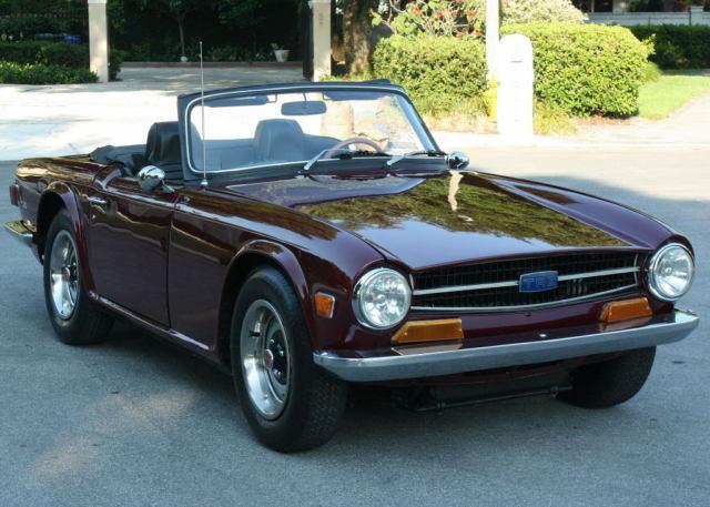 refreshed drop top 1971 triumph tr6 roadster 66k mi classic triumph tr 6 1971 for sale. Black Bedroom Furniture Sets. Home Design Ideas