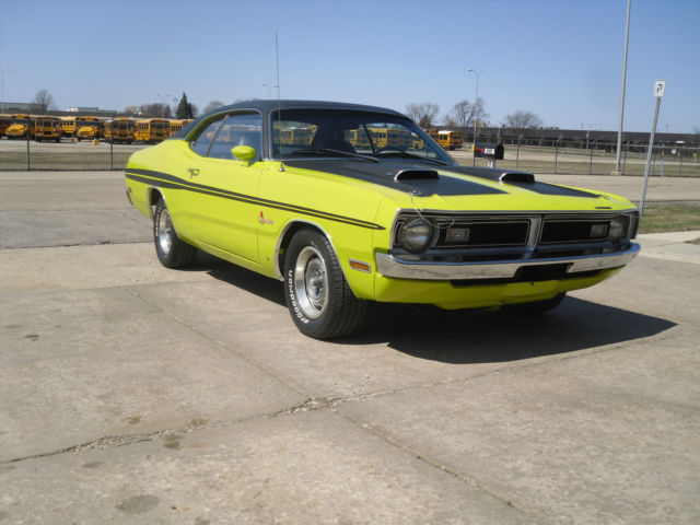 RESTORED 1971 Dodge Demon 340 4 speed Citron Yella Black Bucket Seat Interior - Classic Dodge ...