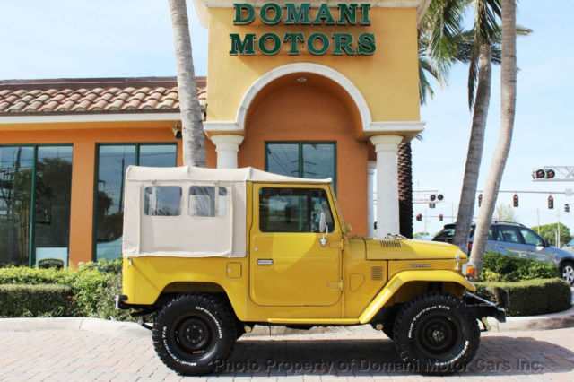 Toyota Land Cruiser Colorado Mats >> RESTORED FJ40 SOFT-TOP LAND CRUISER WITH A/C AND POWER STEERING! OLDER RESTORATI - Classic ...