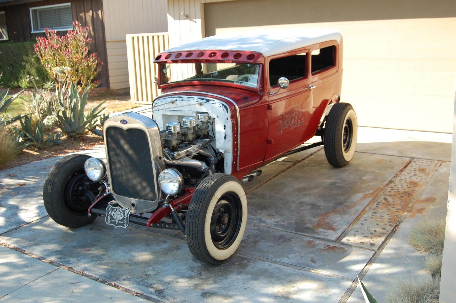 Restored Vintage 1930 Ford Model A Sedan Hot Rod 30 W 32
