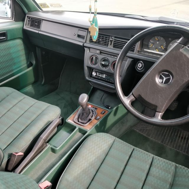How To Clean Engine Bay >> Right Hand Drive Manual 1989 190e 2.0 in a Rare Green ...