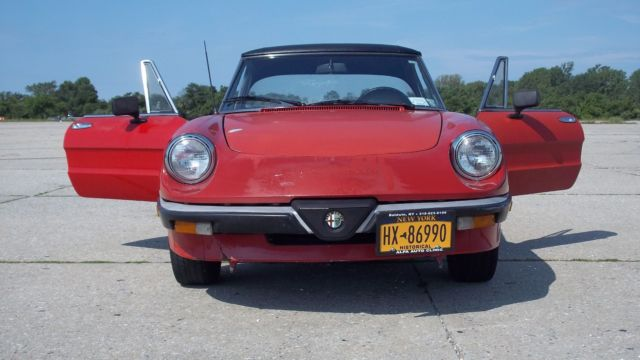 rust free spider on long island with hardtop classic alfa romeo spider 1986 for sale. Black Bedroom Furniture Sets. Home Design Ideas
