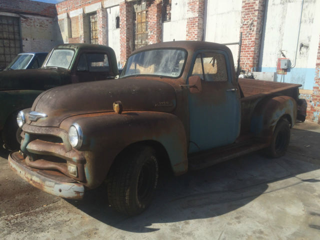 RUSTY 1954 Chevy 3100 pickup 1/2 ton short bed rat rod ...