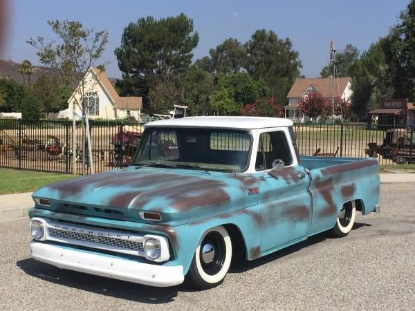 Shortbed Fleetside 1965 C10 Fauxtina Bagged