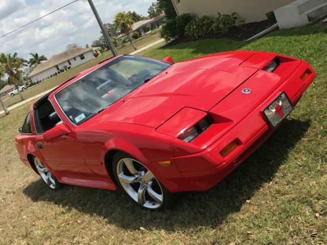 super clean 1986 red nissan 300zx classic nissan 300zx 1986 for sale. Black Bedroom Furniture Sets. Home Design Ideas