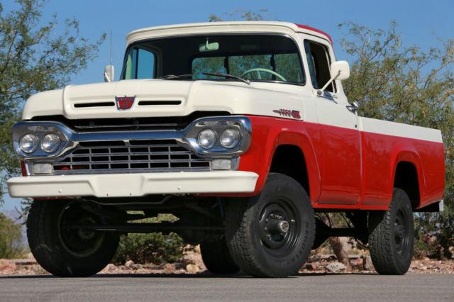 Used Cars Boulder >> SUPER RARE 1960 FORD F-250 CUSTOM CAB STYLESIDE 4X4 W ...