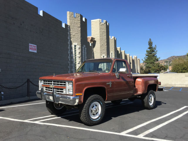 SUPER RARE Low mile 86 CHEVY K20 4X4 STEPSIDE LONG BED ...