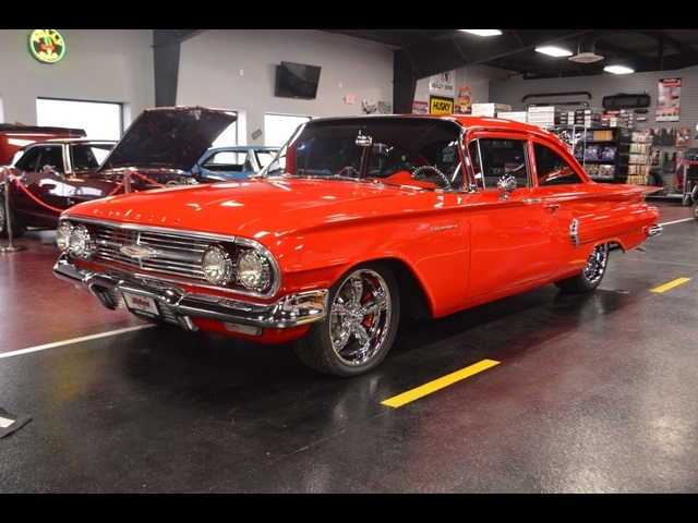 Sweet Red Custom Biscayne Impala Chevy Air Ride Bags