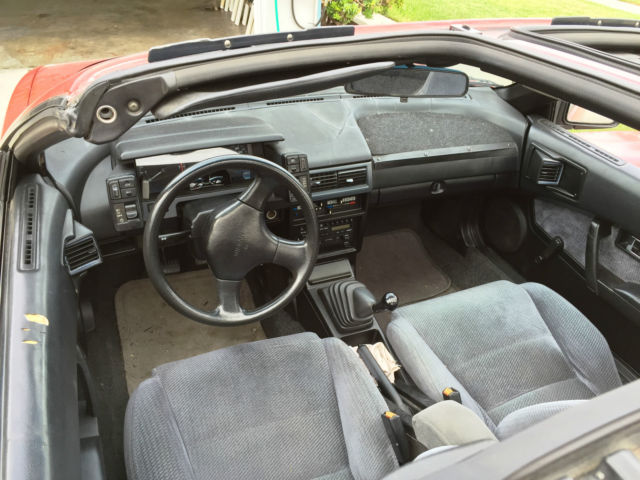 This a nissan pulsar nx that has been converted into a for Nissan pulsar interior