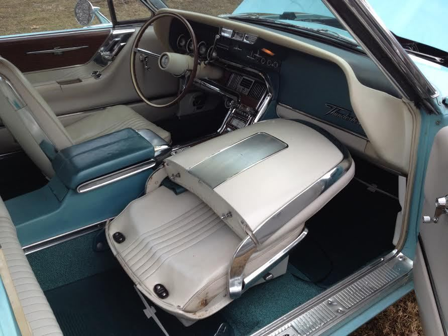 this aqua blue with white landau roof and white interior classic ford thunderbird 1965 for sale. Black Bedroom Furniture Sets. Home Design Ideas