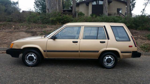 Toyota Tercel For Sale >> Toyota tercel 4x4 wagon. 2 owner. CA born. All orig. Not SR5 - Classic Toyota Tercel 1986 for sale