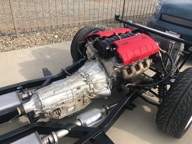 Tri Five 55 56 57 Chevy Art Morrison Frame LS7 crate engine 4L80E trans Strange - Classic
