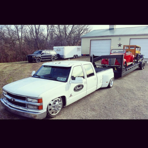 Ultimate Shop Truck Cummins Bagged Dually Air Ride Gmc Slammed Lowered on 1993 Chevy Silverado Lowered