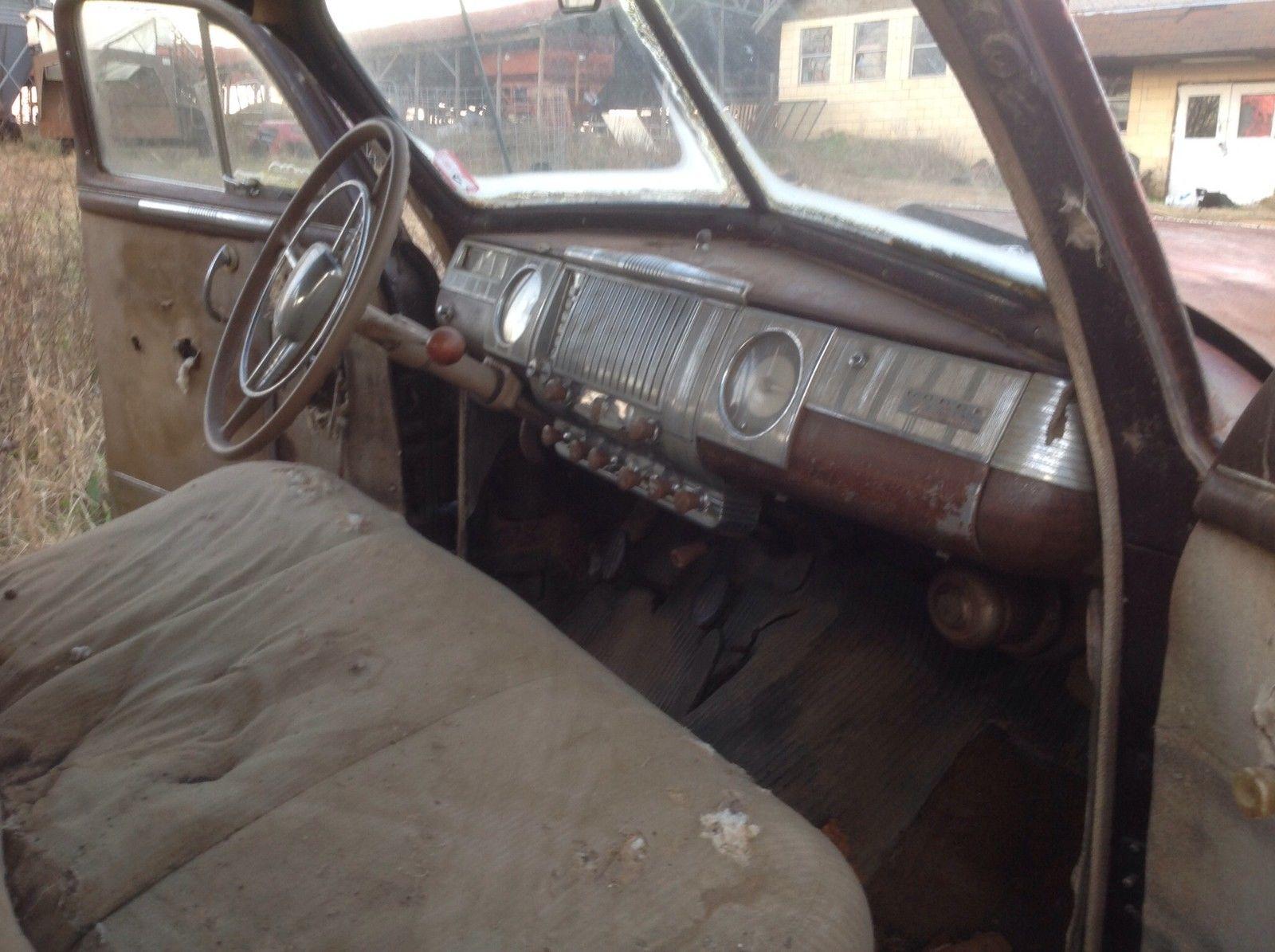 Unrestored Classic Dodge Deluxe Door Fluid Drive Great Garage Find