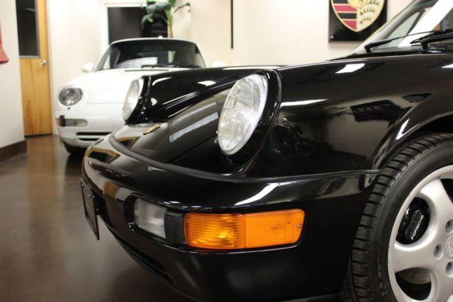 Used 1993 Porsche 911 Carrera 4 Cabriolet Black Convertible 2 Dr 36