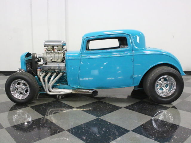 Very strong running blown ford 429 built to 516ci built for 1932 ford 3 window coupe chassis