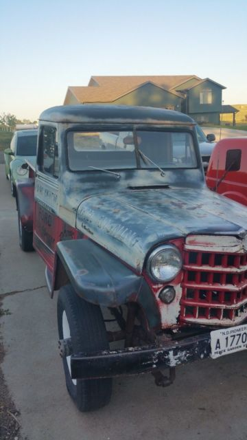 Vintage 1952 Willys Jeep Pickup 4x4 Truck Running Rat Rod