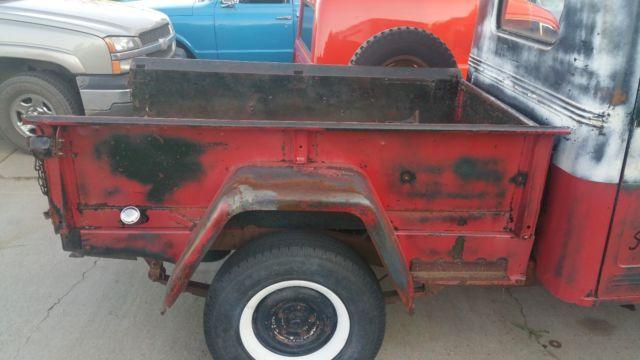 Vintage 1952 Willys Jeep Pickup 4x4 Truck Running Rat Rod