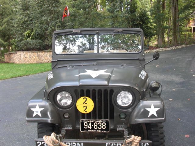 Vintage 1952 Willys M38 A1 Us Army Jeep Classic Willys