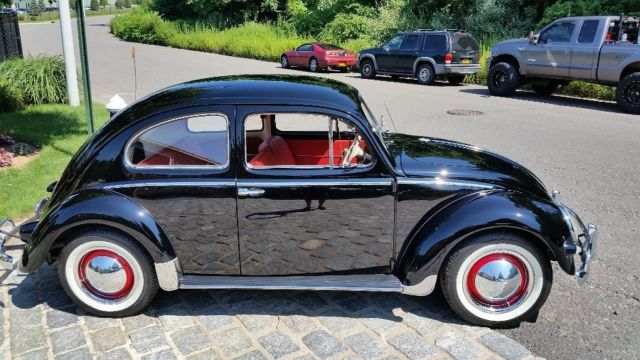 vintage  oval window black beetle bug restored show car  reserve auction classic