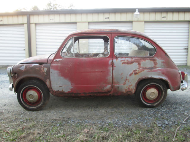 VINTAGE 1961 FIAT 600D SEDAN BARN FIND!! ALL ORIGINAL MICRO