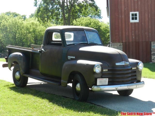 vintage barn farm find 1950 50 chevy chevrolet std bed 3600 pickup truck usa classic chevrolet. Black Bedroom Furniture Sets. Home Design Ideas