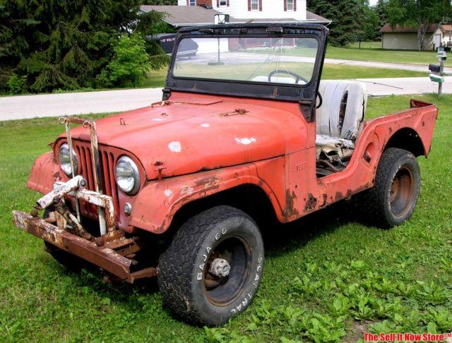 Vintage Barn Find 1962 Willys Jeep Cj5 Cj 5 Project Willy