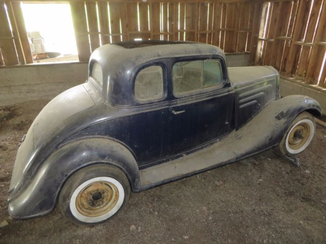 Vintage original 1934 chevrolet master 5 window coupe for 1934 chevy 5 window coupe