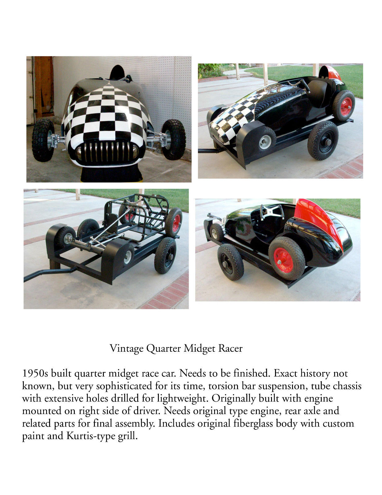 What result? quarter midget fiberglass consider, that