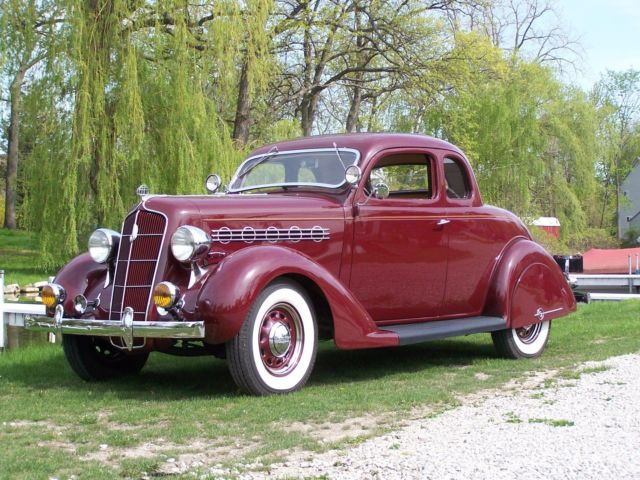 Vintage Restored 1935 Plymouth Rumble Seat Coupe Engine