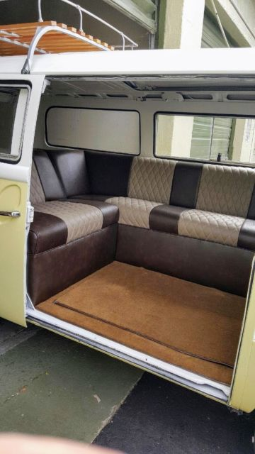 Volkswagen Bus Type 2 1970 (Yellow and White with Brown/Beige Interior) - Classic Volkswagen Bus ...