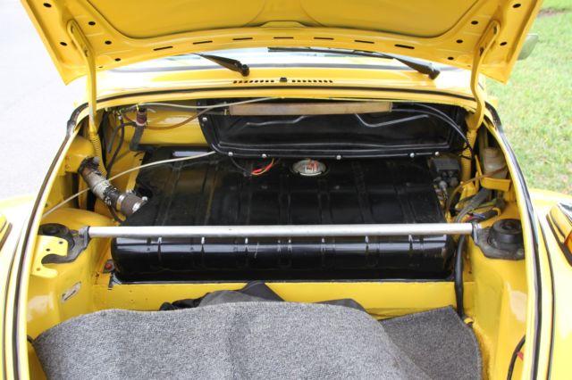 Volkswagen Super Beetle Convertible 1975 - yellow w/black top and tweed interior - Classic ...