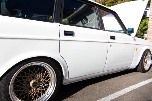 Volvo 240 Wagon 5spd Turbo 300horsepwer Slammed Coilovers