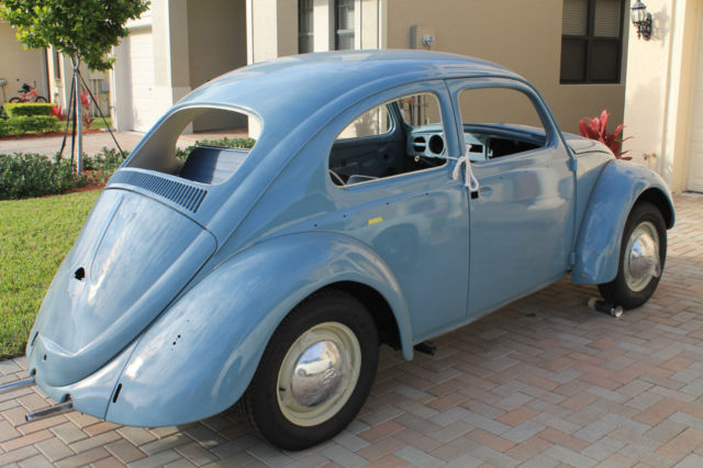VW Bettle 1959. 1200cc original, factory Blue Fjord COMPLETE CAR. Read list. SEE - Classic ...