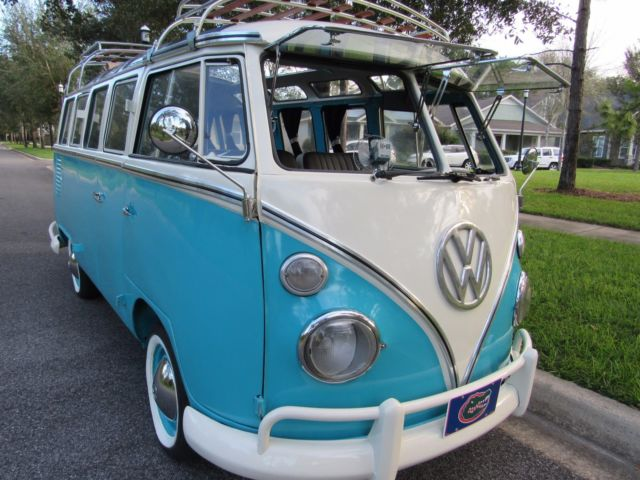Vw Bus 23 Windows Samba With Roof Rack Safari Windows And