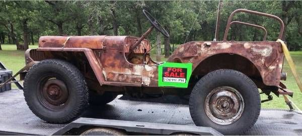 willys cj 3a jeep rare hard to find rat rod 4 cyl flathead no reserve classic jeep. Black Bedroom Furniture Sets. Home Design Ideas