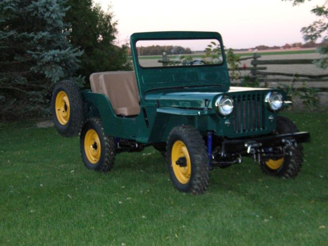 willys jeep for sale 1950 cj3a willy 39 s farm jeep classic. Black Bedroom Furniture Sets. Home Design Ideas