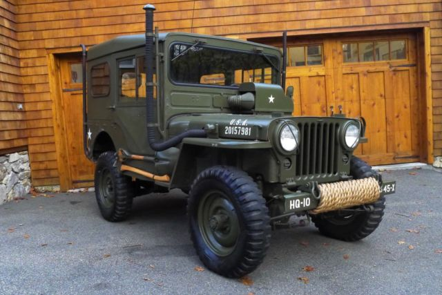 Willys M Jeep Rare Arctic Package Korean War Body Off Frame Restoration on 1952 Willys Jeep M38 For Sale